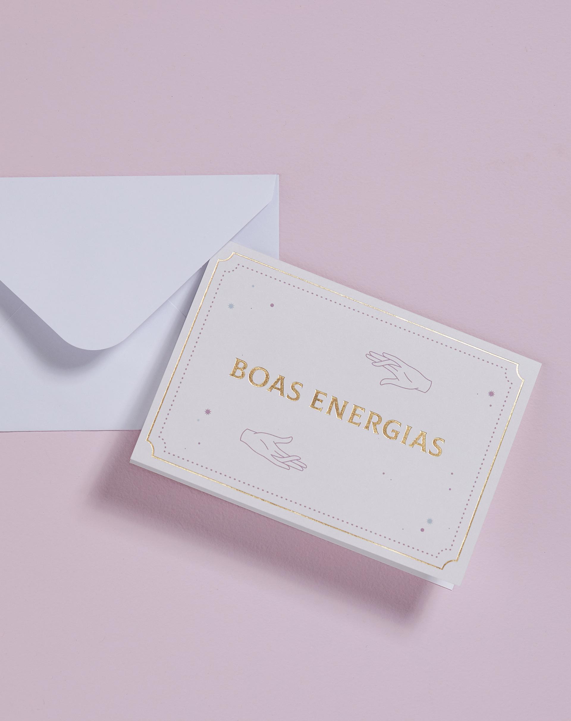 AMARO Feminino CARTÃO BOAS ENERGIAS, MULTI COLORIDO