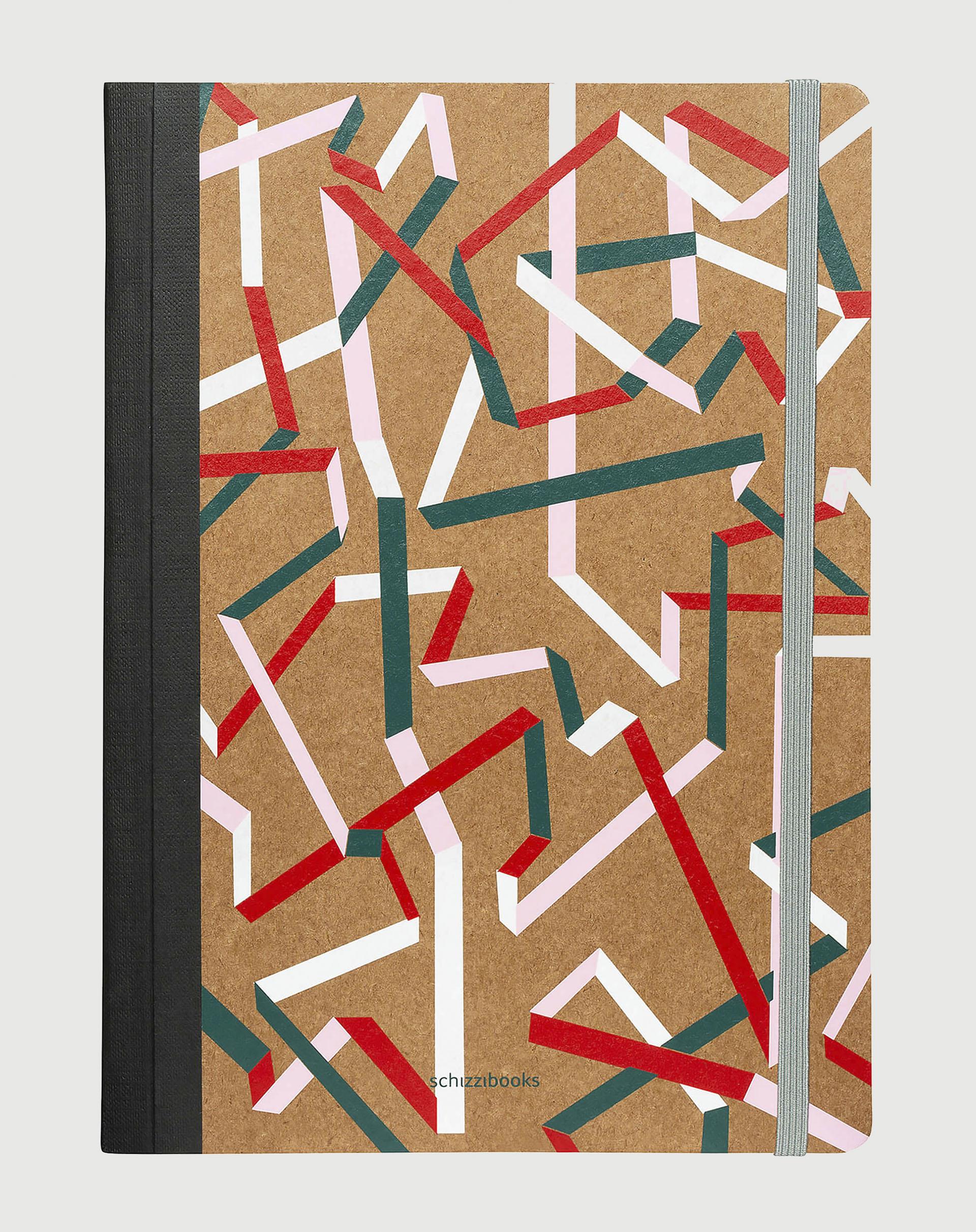 AMARO Feminino SCHIZZIBOOKS CADERNO XLARGE, RAINBOW